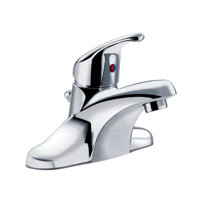 CFG CA40718 Bathroom Faucet, Cornerstone™, Chrome Plated, 1 Handles, Metal Pop-Up Drain, 1.2 gpm