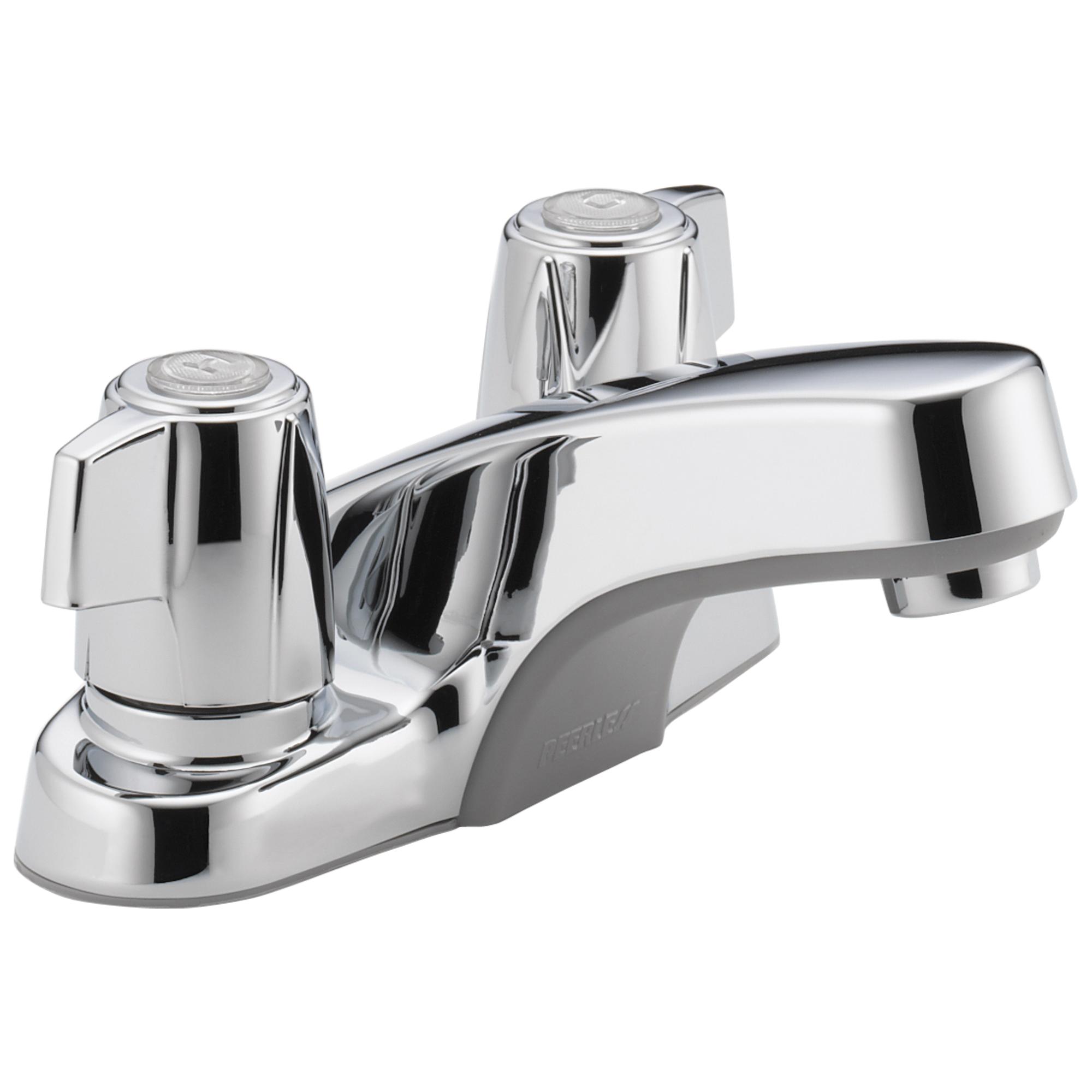 Peerless® P241LF Centerset Lavatory Faucet, Chrome Plated, 2 Handles, 1.2 gpm