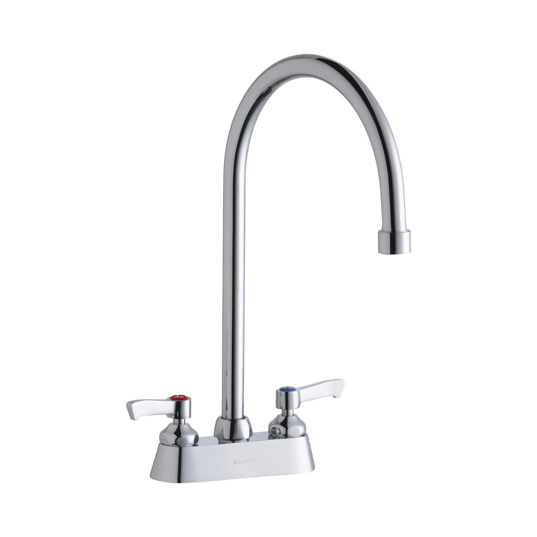 Elkay® LK406GN08L2 Centerset Bathroom Faucet, Chrome Plated, 2 Handles, 1.5 gpm