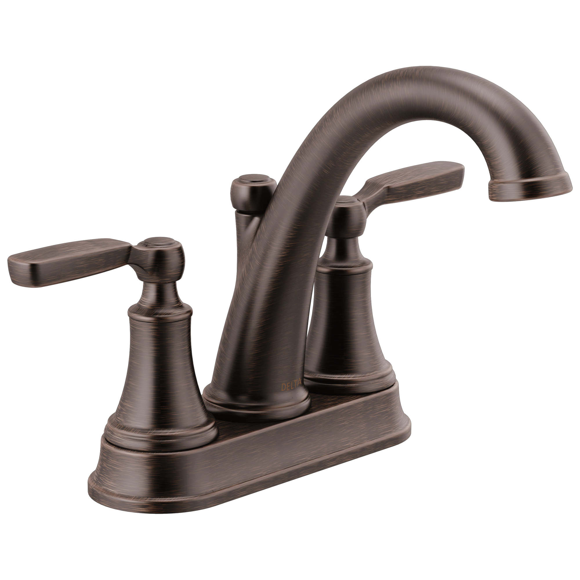 DELTA® 2532LF-RBTP Bathroom Faucet, Woodhurst™, Venetian Bronze, 2 Handles, 50/50 Pop-Up Drain, 1.2 gpm