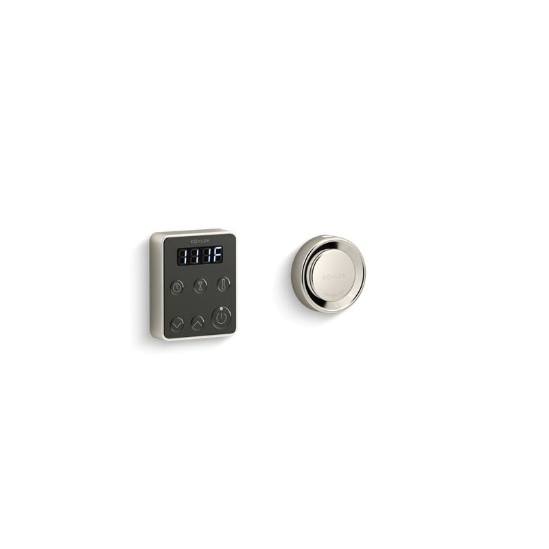 Kohler® 5557-SN Steam Generator Control Kit, Invigoration™, Adjustable Panel, 90 to 125 deg F, Vibrant® Polished Nickel, For Use With: Invigoration™ 5 to 15 kW Steam Generator