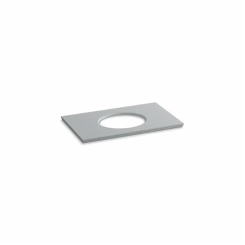 Kohler® 5423-S36 Solid/Expressions™ Vanity Top With Single Verticyl® Oval Cutout, 22-13/16 in OAWx22-13/16 in OADx1-1/4 in OAH, Stone Ice Gray Top