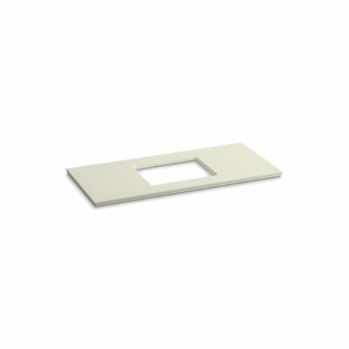 Kohler® 5458-S35 Solid/Expressions™ Vanity Top With Single Verticyl® Rectangular Cutout, 22-13/16 in OAWx22-13/16 in OADx1-1/4 in OAH, Stone Biscuit Top