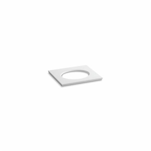 Kohler® 5421-S33 Solid/Expressions™ Vanity Top With Single Verticyl® Oval Cutout, 22-13/16 in OAWx22-13/16 in OADx1-1/4 in OAH, Stone White Top