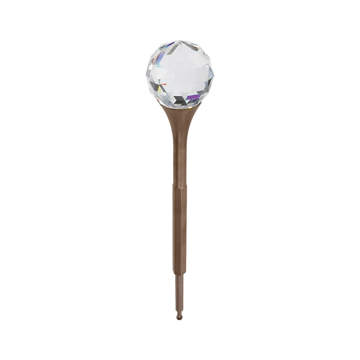 Brizo® RP47958BZ RSVP® Crystal Finial, For Use With Lavatory Widespread/Bidet Faucet, Brilliance® Brushed Bronze, Import