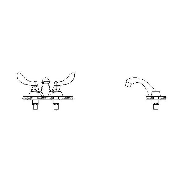 DELTA® 21C124 Heavy Duty Centerset Sink Faucet, TECK®, Polished Chrome, 2 Handles, 1.5 gpm