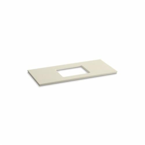 Kohler® 5458-S34 Solid/Expressions™ Vanity Top With Single Verticyl® Rectangular Cutout, 22-13/16 in OAWx22-13/16 in OADx1-1/4 in OAH, Stone Almond Top