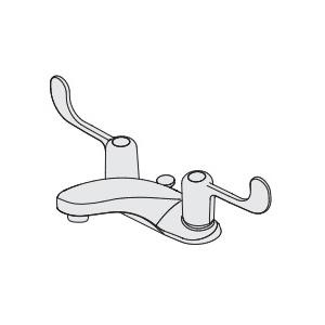 Symmons® S-240-LWG Centerset Lavatory Faucet, Symmetrix™, Polished Chrome, 2 Handles, 2.2 gpm