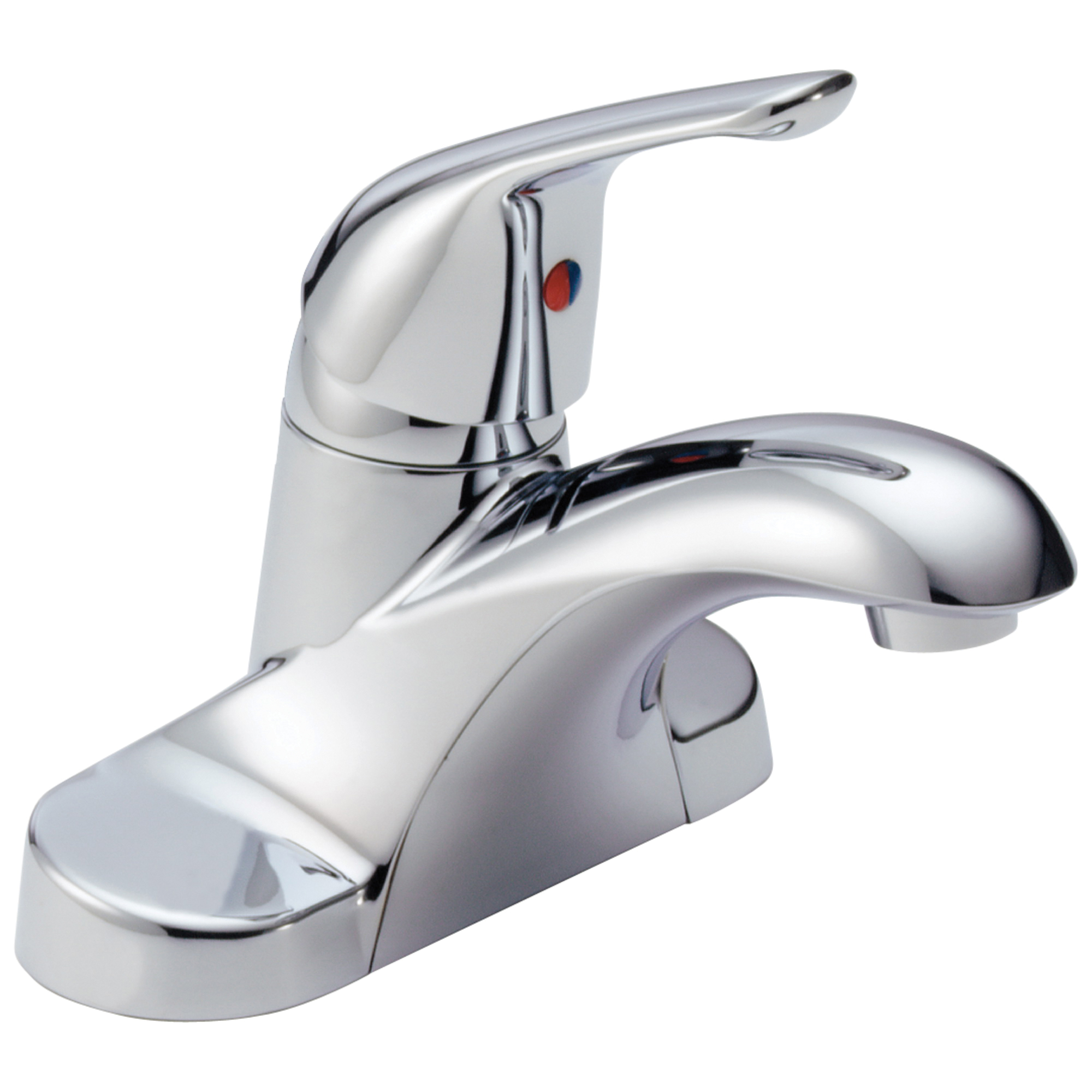 DELTA® B501LF-LH Centerset Lavatory Faucet, Foundations®, Chrome Plated, 1 Handles, 1.2 gpm