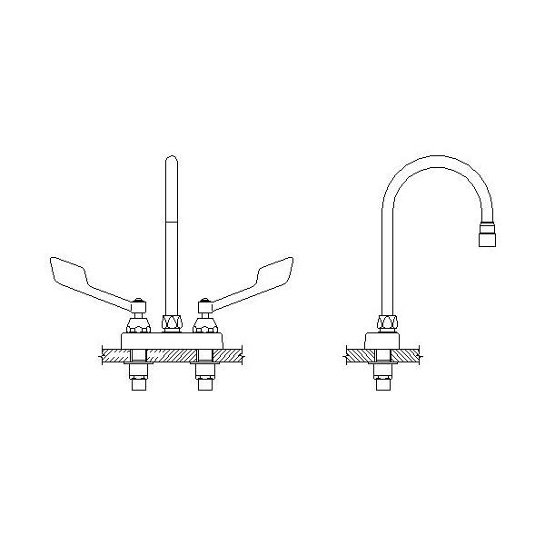 DELTA® 27C4955 Heavy Duty Lavatory Sink Faucet, TECK®, Polished Chrome, 1 Handles, 0.5 gpm