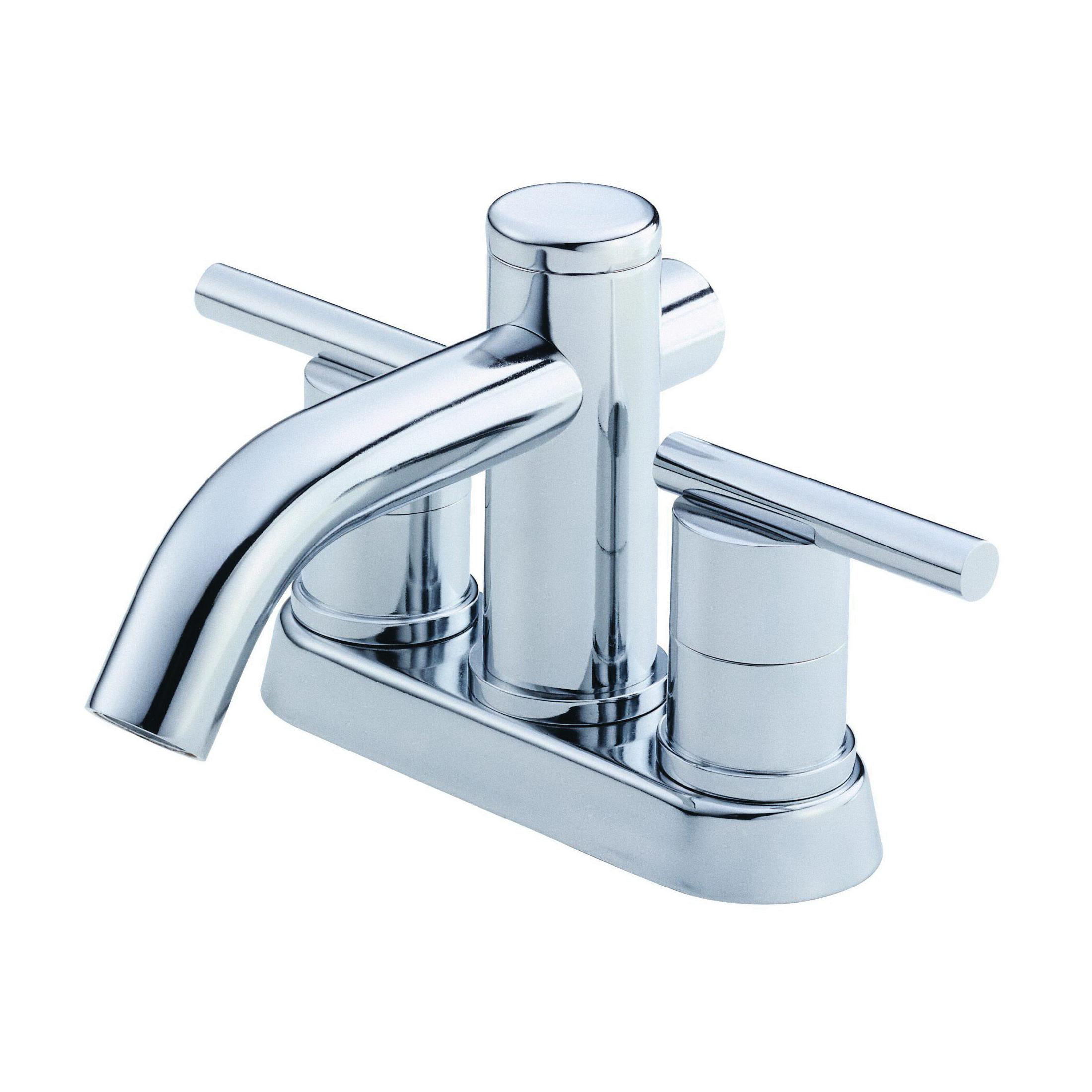 Danze® D301158 Centerset Lavatory Faucet, Parma®, Polished Chrome, 2 Handles, Metal Touch-Down Drain, 1.2 gpm