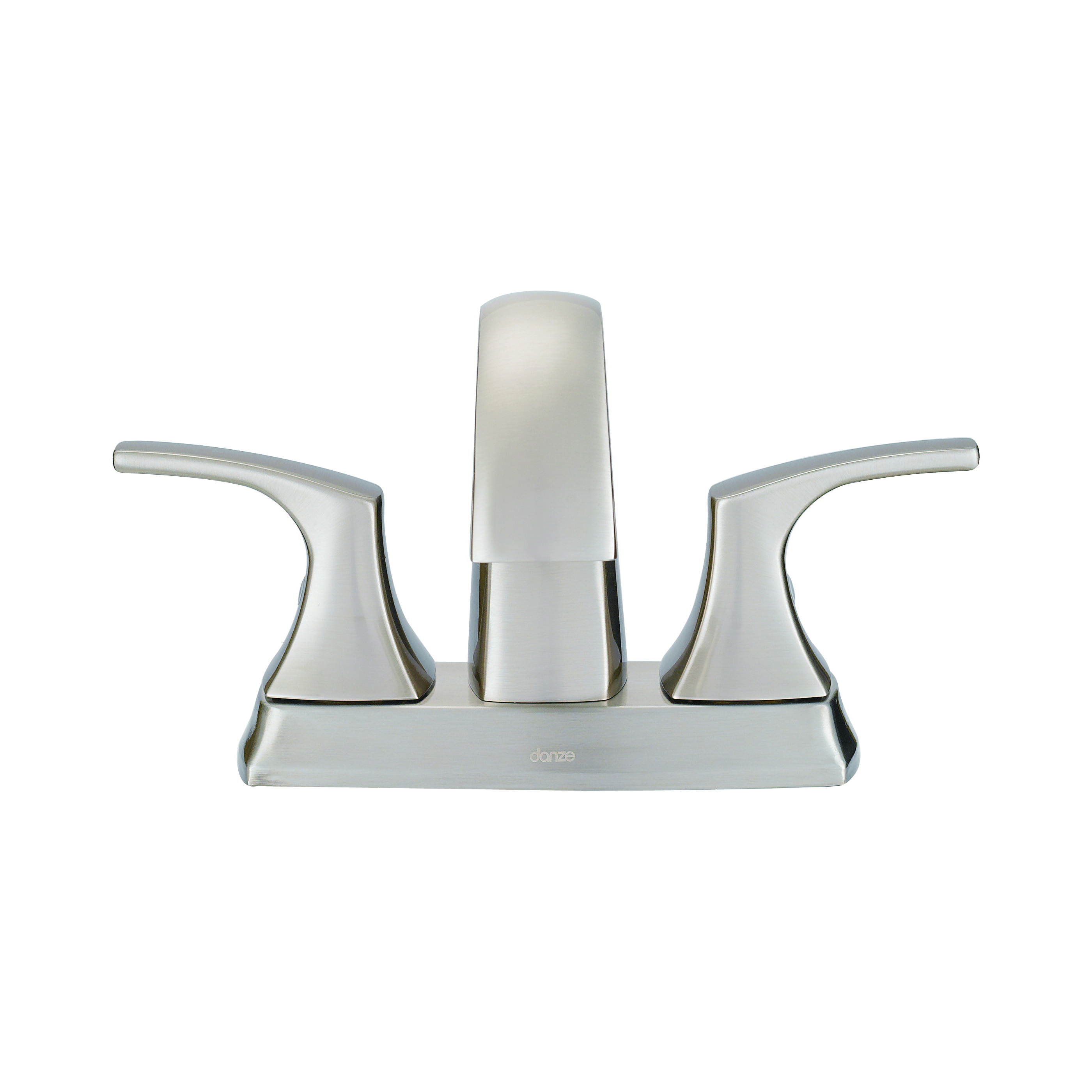 Danze® D307018BN Centerset Lavatory Faucet, Vaughn™, Brushed Nickel, 2 Handles, Metal Pop-Up Drain, 1.2 gpm