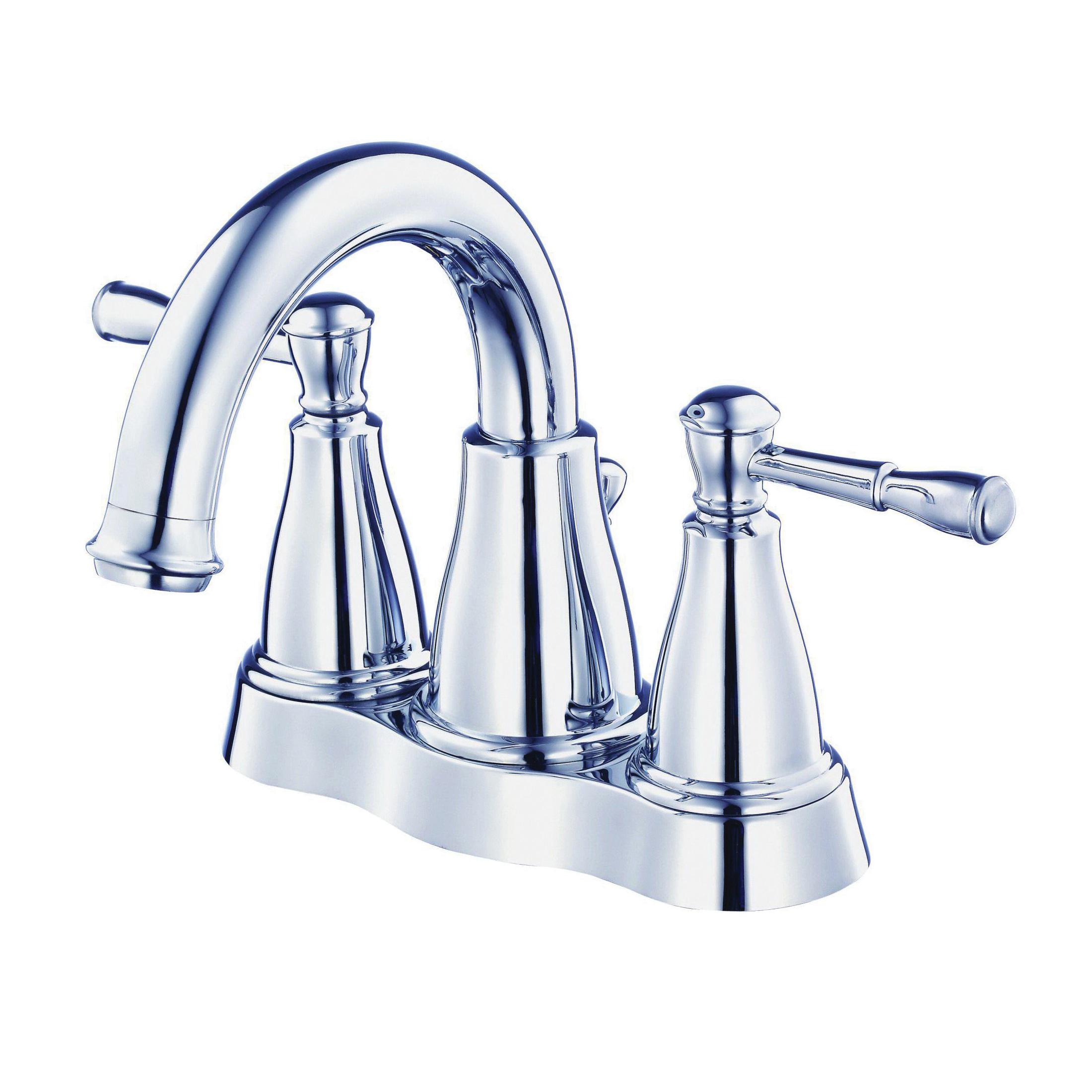 Danze® D301115 Centerset Lavatory Faucet, Eastham™, Polished Chrome, 2 Handles, 50/50 Pop-Up Drain, 1.2 gpm
