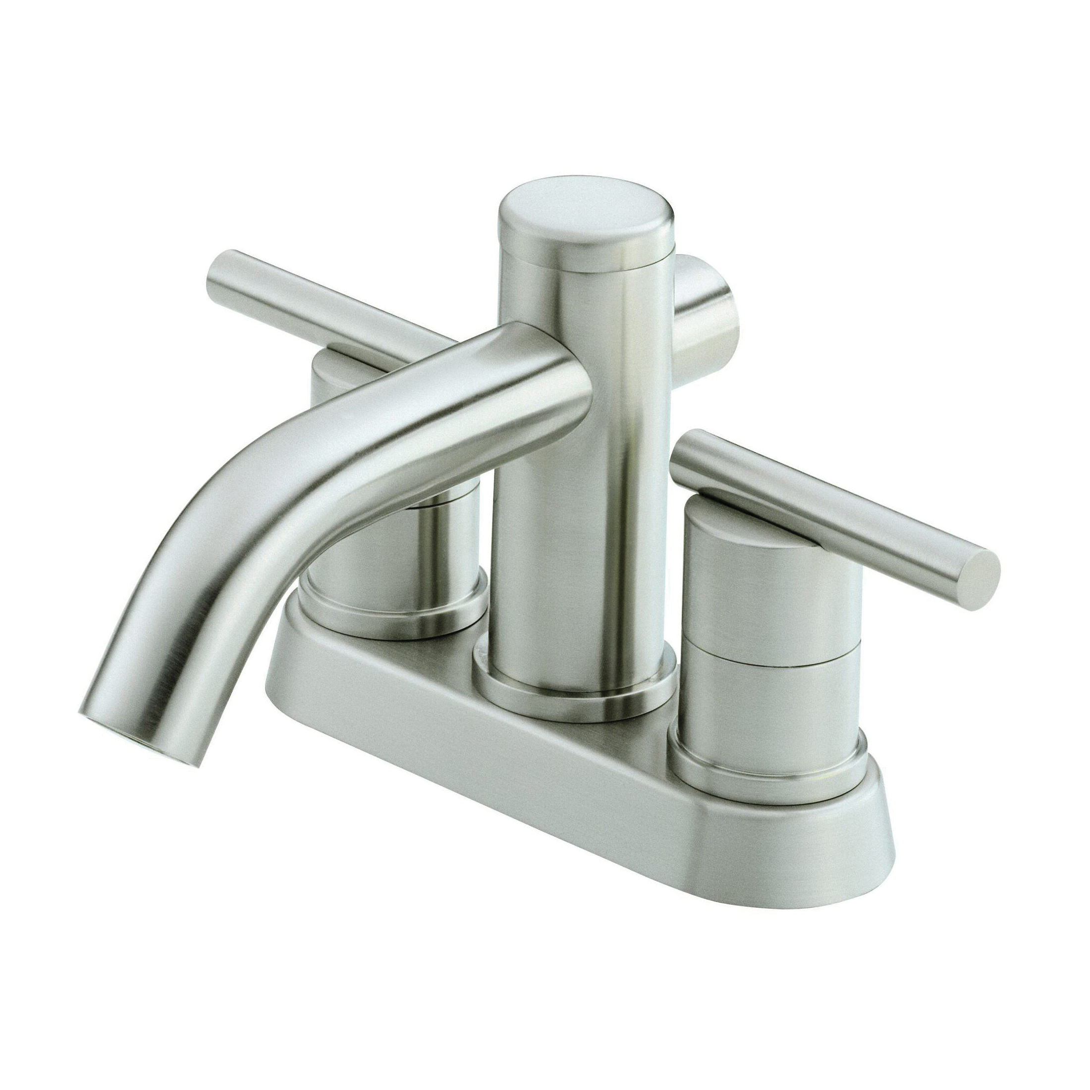 Danze® D301158BN Centerset Lavatory Faucet, Parma®, Brushed Nickel, 2 Handles, Metal Touch-Down Drain, 1.2 gpm