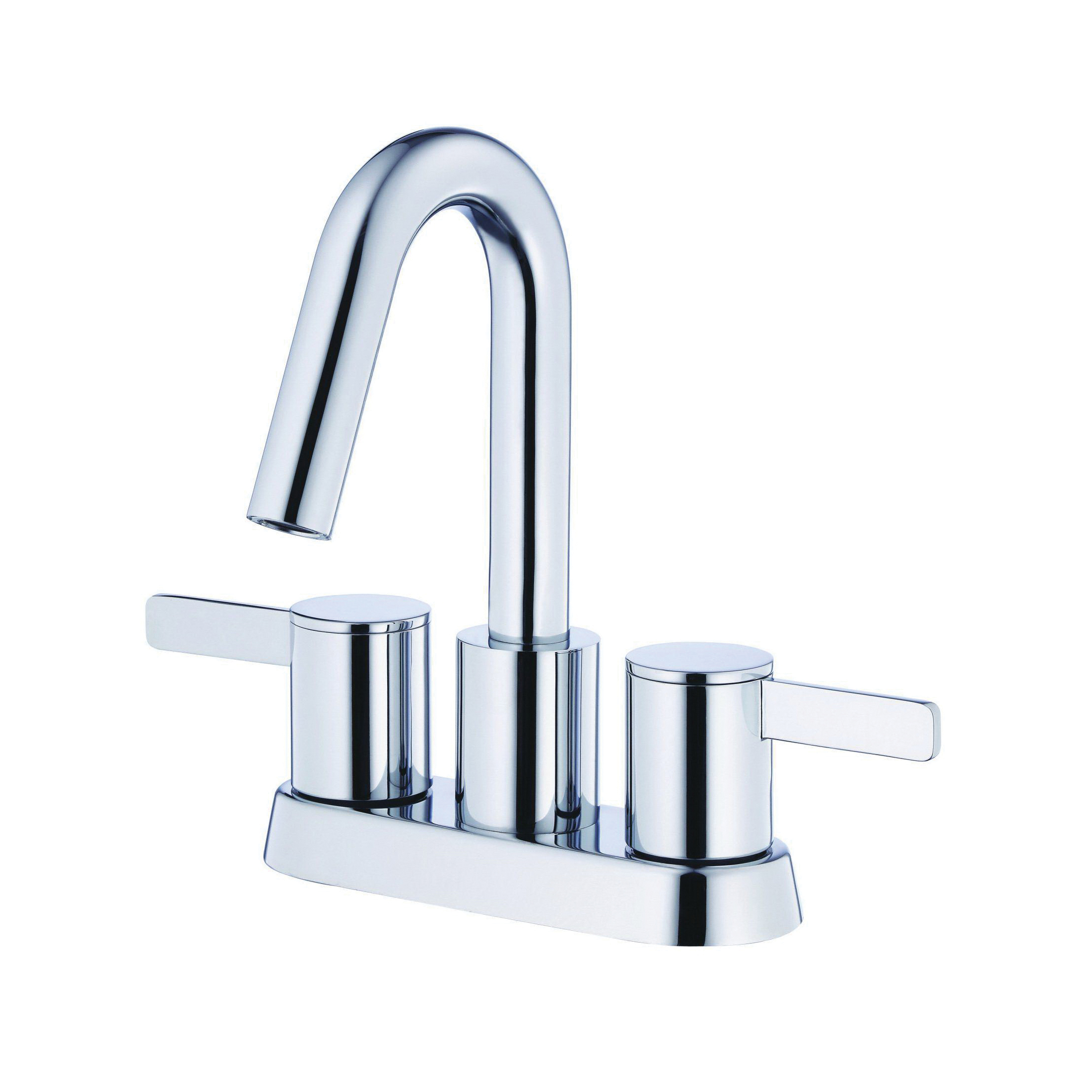 Danze® D301130 Centerset Lavatory Faucet, Amalfi™, Polished Chrome, 2 Handles, 50/50 Touch-Down Pop-Up Drain, 1.2 gpm