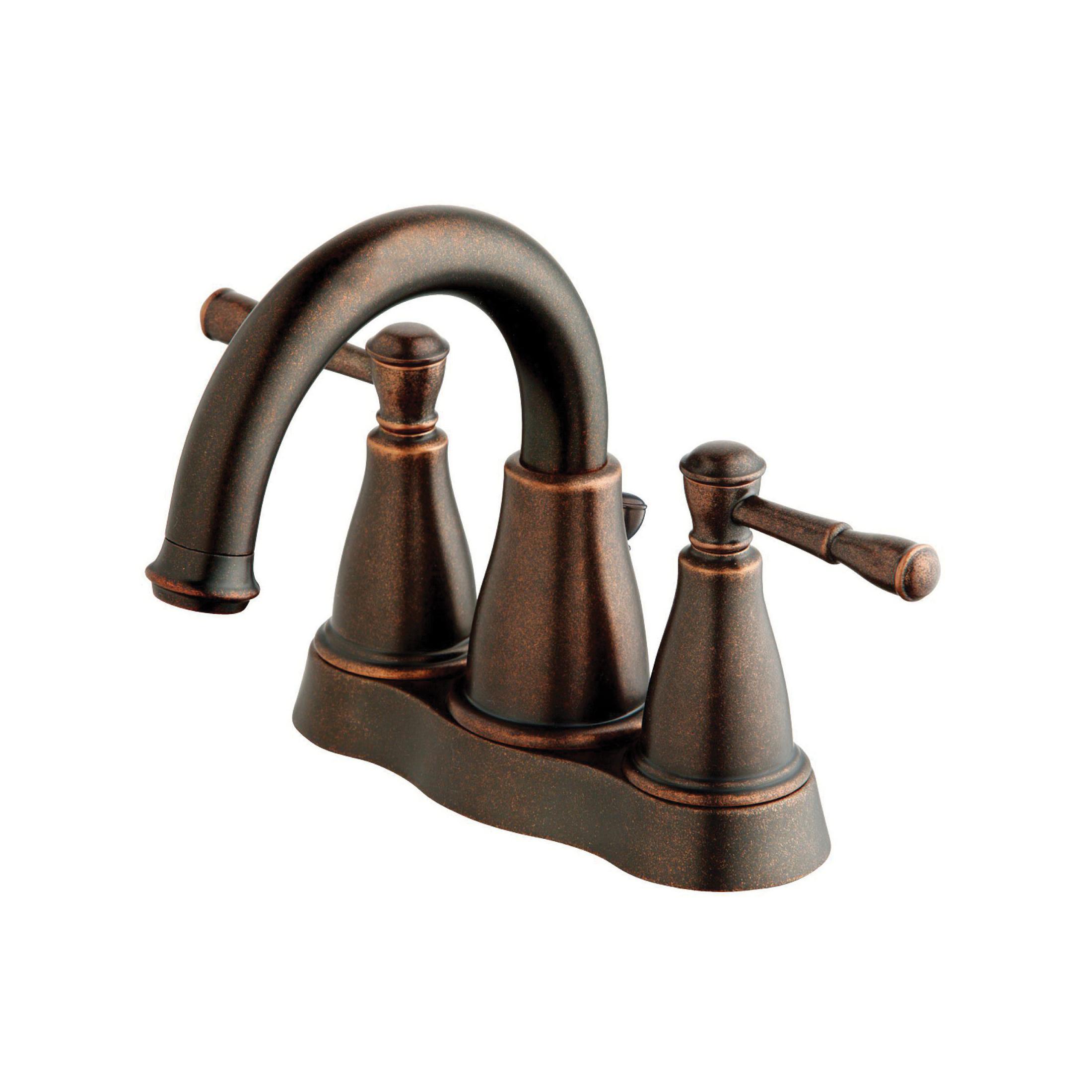Danze® D301115BR Centerset Lavatory Faucet, Eastham™, Tumbled Bronze, 2 Handles, 50/50 Pop-Up Drain, 1.2 gpm