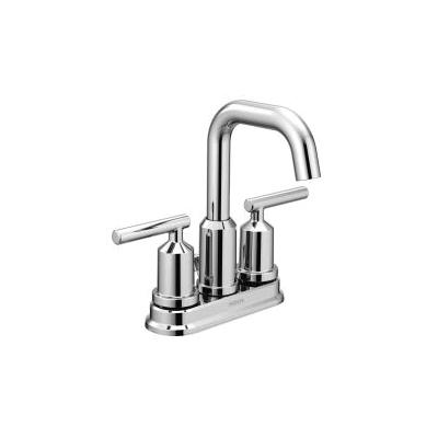 Moen® 6150 Centerset Bathroom Faucet, Gibson™, Chrome Plated, 2 Handles, Metal Pop-Up Drain, 1.2 gpm