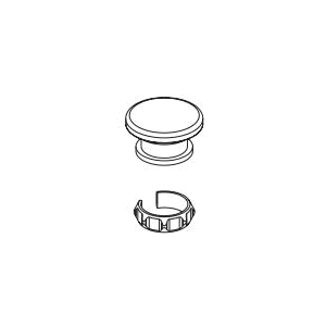 Brizo® RP101194PC Invari™ Small FSTF Cap and Friction Ring, For Use With Invari™ 1-Handle Floor Mount Tub Filler, Polished Chrome, Commercial