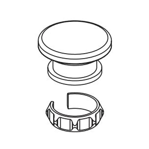 Brizo® RP101183PG Invari™ Cap and Friction Ring, For Use With Invari™ Sensori® T66T076-LHP Thermostatic Valve Trim, Polished Gold, Commercial