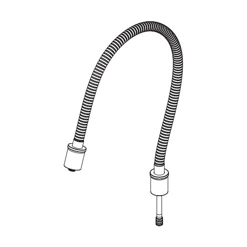 Brizo® RP101163NK Invari™ Hose Assembly, For Use With Model 81376 Slide Bar Shower Arm and Flange, Luxe Nickel, Domestic
