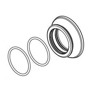 Brizo® RP101162SL Invari™ Flange and O-Ring, For Use With Invari™ 81376 Slide Bar Shower Arm and Flange, Luxe Steel, Domestic