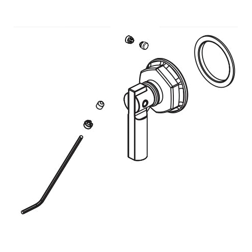 Brizo® RP101159NK Invari™ Handle Assembly, For Use With Invari™ 81376 Slide Bar Shower Arm and Flange, Brilliance® Luxe Nickel, Import