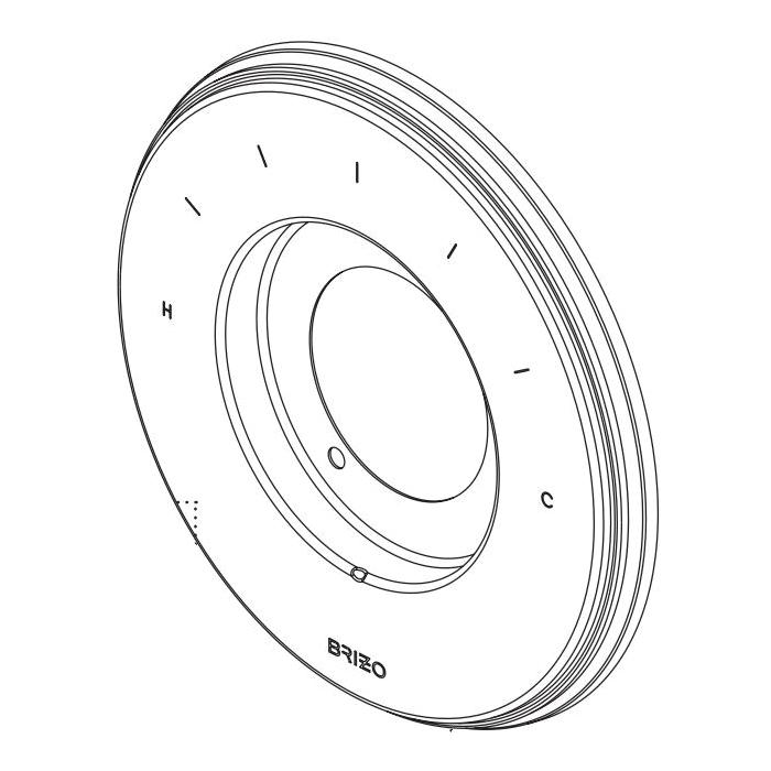 Brizo® RP101153PC Invari™ Escutcheon, For Use With Invari™ T66T076-LHP Sensori® Valve Trim, 0.56 in L x 7 in W x 7 in H, Polished Chrome, Domestic