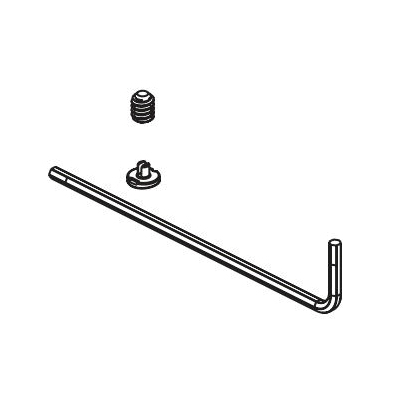 Brizo® RP101150NK Invari™ Set Screw/Button and Wrench, For Use With Invari™ T60076/T60276 Thermostatic Trim, Brilliance® Luxe Nickel, Domestic