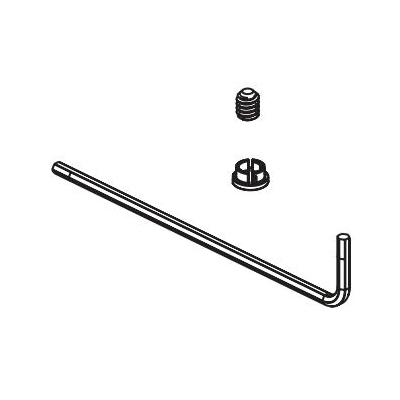 Brizo® RP101149GL Invari™ Set Screw/Button and Wrench, For Use With Invari™ T60076/T60276 Thermostatic Trim, Luxe Gold, Domestic