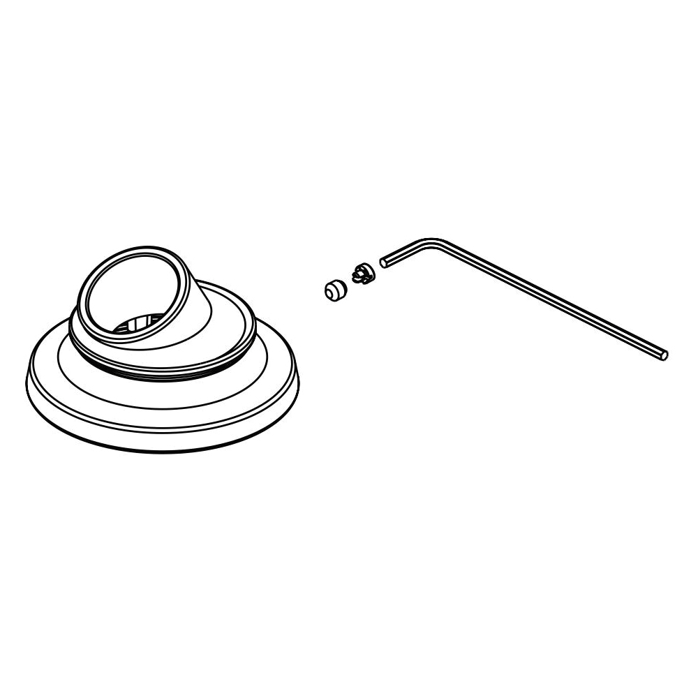 Brizo® RP101138NK Invari™ Base/Set Screw/Cover and Wrench, For Use With Invari™ T67476 Roman Tub Faucet, Brilliance® Luxe Nickel, Domestic