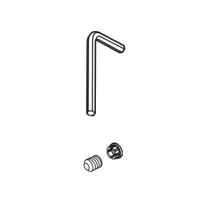 Brizo® RP101053NK Litze™ Allen Wrench/Set Screw and Button, For Use With Litze™ T67335 2-Handle Roman Tub Trim, Brilliance® Luxe Nickel, Domestic