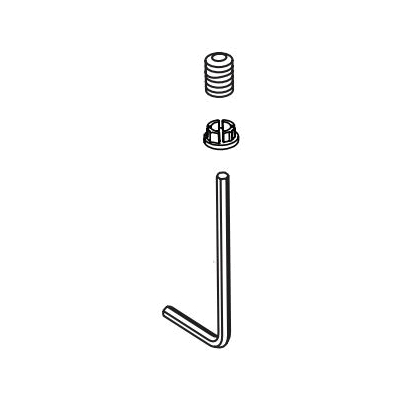 Brizo® RP100761GL Set Screw/Button and Allen Wrench, For Use With Vesi® T60P240/T60P440 Pressure Balance Shower, Luxe Gold, Import