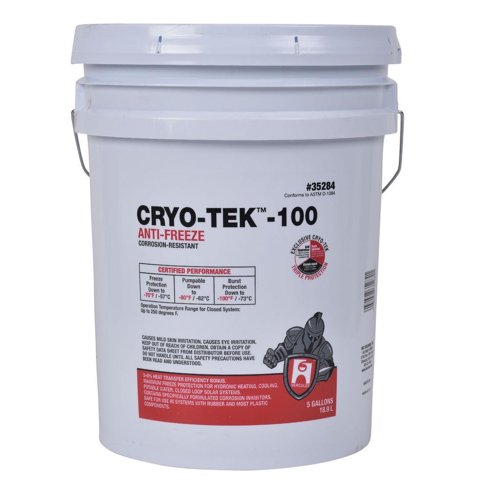 Hercules® Cryo-Tek™ 100 35284 Anti-Freeze, 5 gal, Liquid, Pink, 1.04 at 60 to 65 deg F