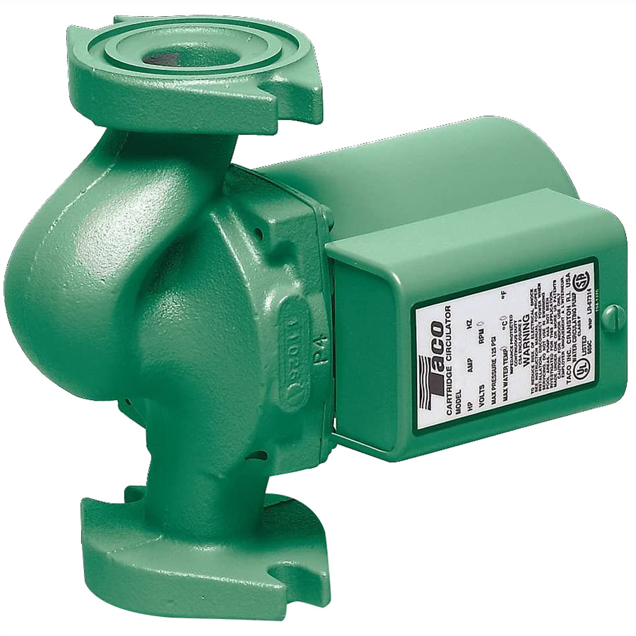 Taco® IFC™ 007-ZF5-IFC Zoning Cartridge Circulator Pump, 0 to 12.5 gpm Flow Rate, 3/4 in, 1 in, 1-1/4 in, 1-1/2 in Flanged Inlet, 115 VAC, 1 ph