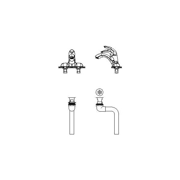 DELTA® 22C551 Centerset Lavatory Faucet, TECK®, Chrome Plated, 1 Handles, 0.5 gpm