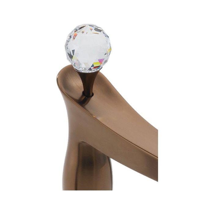 Brizo® RP47959BZ RSVP® Crystal Finial, For Use With Roman Tub Faucet, Brilliance® Brushed Bronze, Import