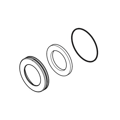 Brizo® RP49089GL Levoir™ Trim Ring, For Use With Rook® Model T60061 Thermostatic Valve Trim, Import