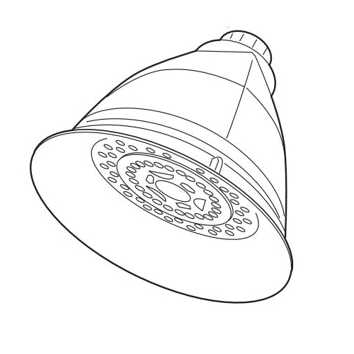 Brizo® RP42431-2.5 Multi-Function Tub and Shower Faucet Trim, Vesi®, 2.5 gpm Minimum, 3 Sprays, 4-29/32 in Dia Head, Import