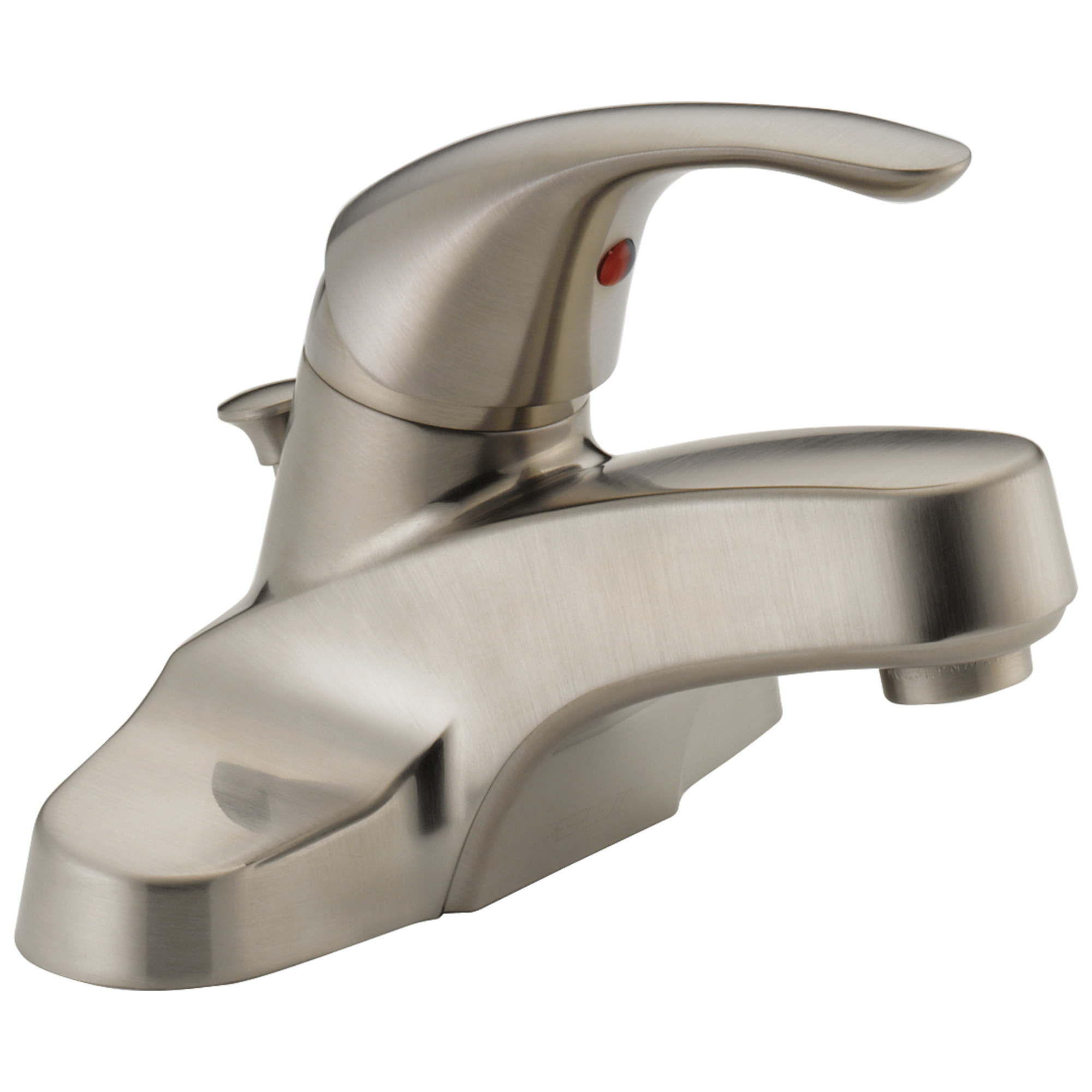 Peerless® P188620LF-BN-M Centerset Lavatory Faucet, Brushed Nickel, 1 Handles, Pop-Up Drain, 1.5 gpm