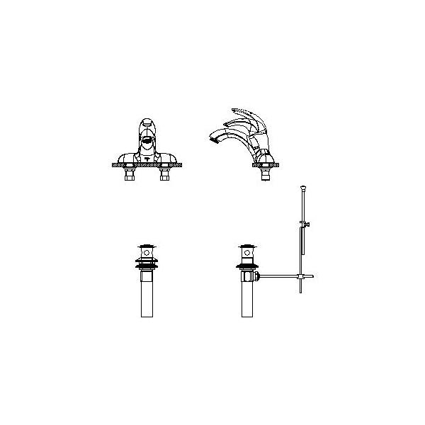 DELTA® 22C331 Centerset Lavatory Faucet, TECK®, Chrome Plated, 1 Handles, Metal Pop-Up Drain, 1.5 gpm