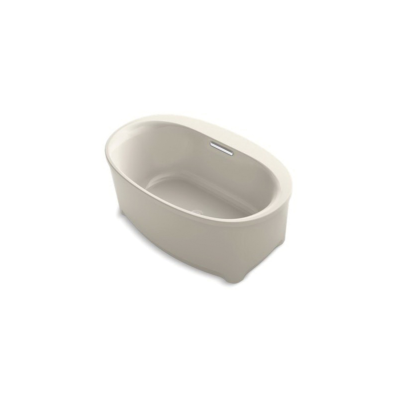 Kohler® 5701-G9 Underscore® Bathtub, Soaking Hydrotherapy, Oval, 60 in L x 36 in W, Center Drain, Sandbar, Domestic