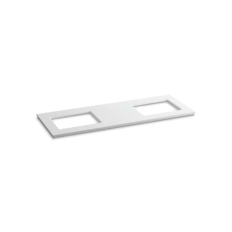 Kohler® 5461-S33 Solid/Expressions™ Bathroom Sink, 61-5/8 in OAWx22-13/16 in OADx1-1/4 in OAH, White