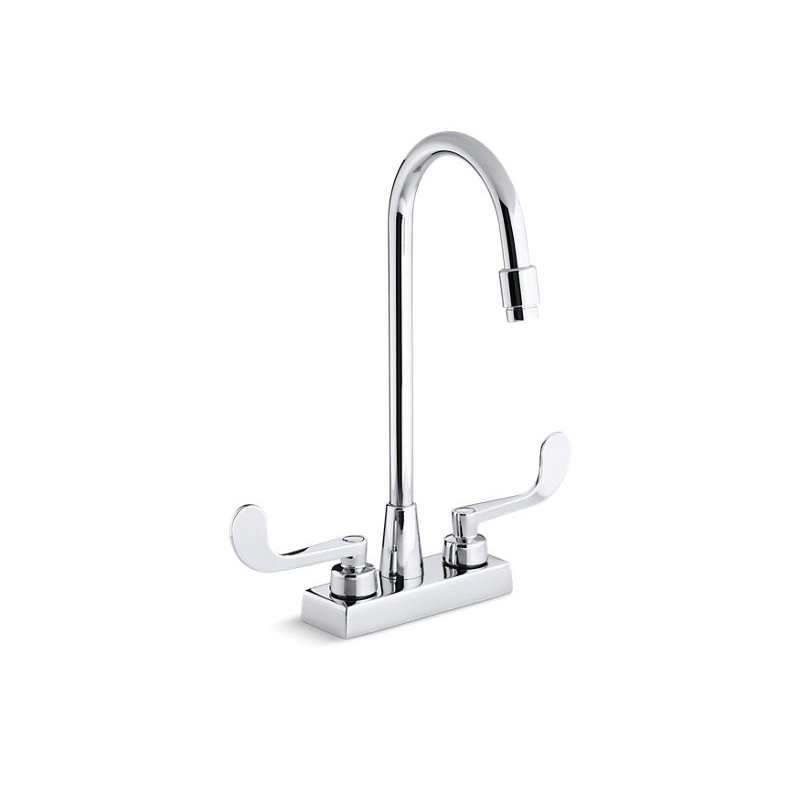 Kohler® 7305-5N-CP Centerset Bathroom Sink Faucet, Triton™, Polished Chrome, 2 Handles, 0.5 gpm