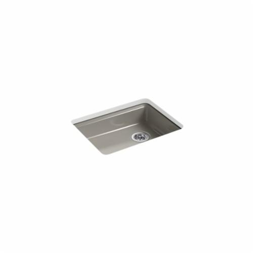 Kohler® 5479-5U-K4 Kitchen Sink, Riverby®, Rectangular, 22-1/4 in Lx17-1/4 in Wx5-1/4 in D Bowl, 5 Faucet Holes, 25 in Lx22 in Wx5-7/8 in H, Under Mount, Cast Iron, Cashmere