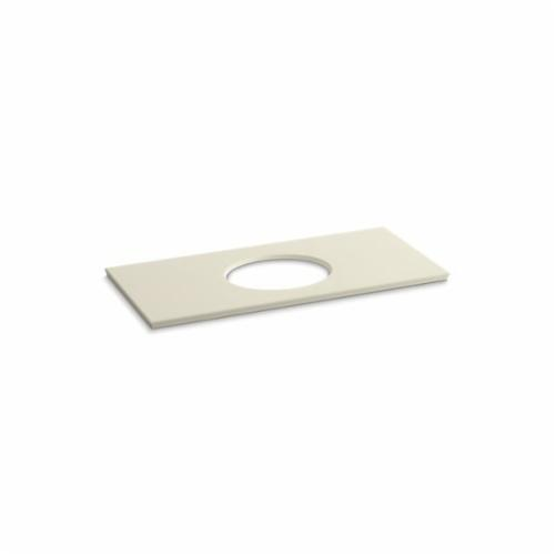 Kohler® 5424-S34 Solid/Expressions™ Vanity Top With Single Verticyl® Oval Cutout, 22-13/16 in OAWx22-13/16 in OADx1-1/4 in OAH, Stone Almond Top