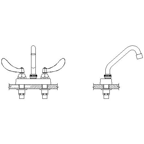 DELTA® 27C4324 Heavy Duty Lavatory Sink Faucet, TECK®, Polished Chrome, 2 Handles, 1.5 gpm