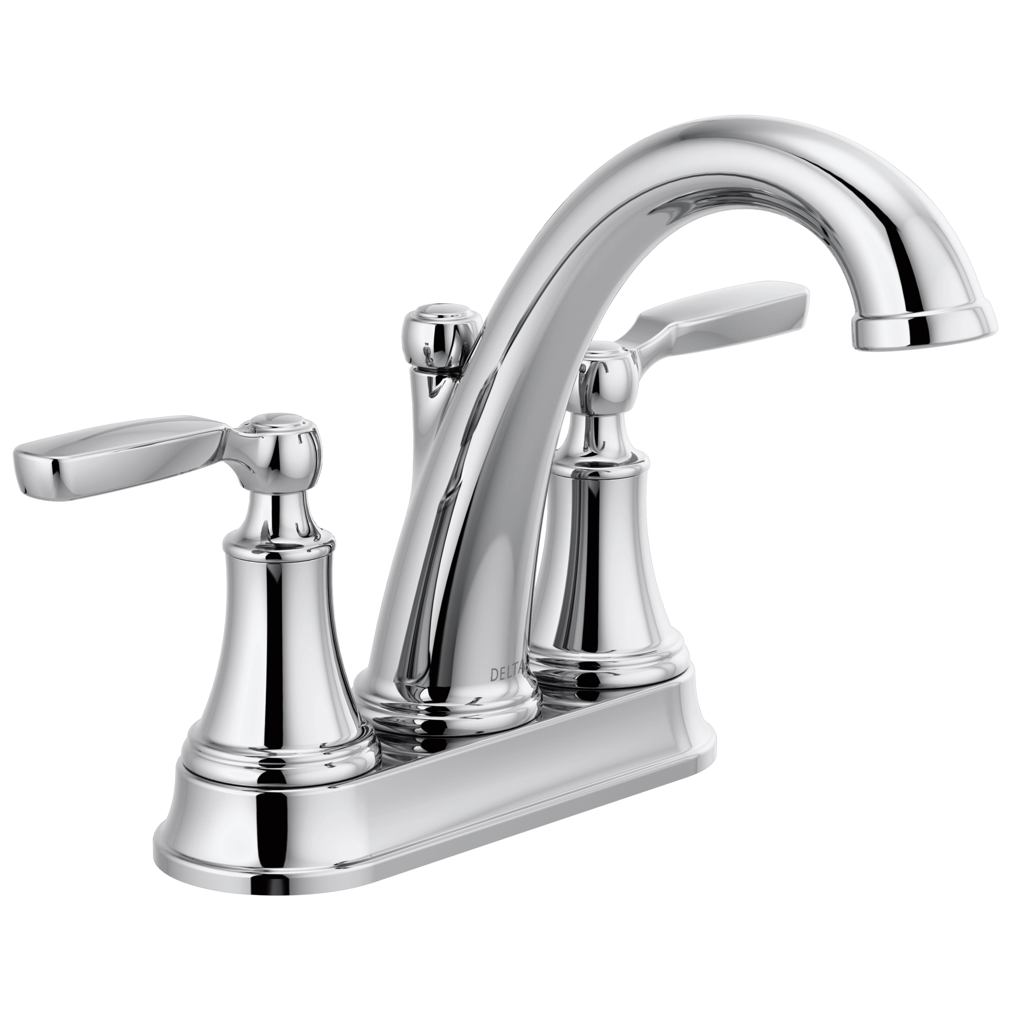 DELTA® 2532LF-TP Bathroom Faucet, Woodhurst™, Chrome Plated, 2 Handles, 50/50 Pop-Up Drain, 1.2 gpm