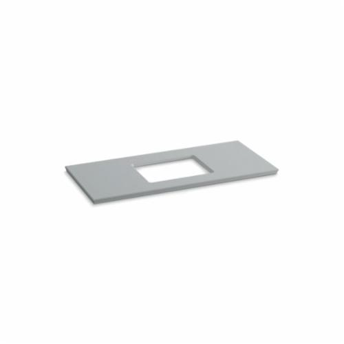 Kohler® 5458-S36 Solid/Expressions™ Vanity Top With Single Verticyl® Rectangular Cutout, 22-13/16 in OAWx22-13/16 in OADx1-1/4 in OAH, Stone Ice Gray Top