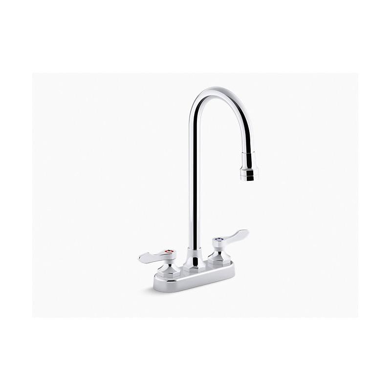 Kohler® K-400T70-4ANL-CP Centerset Bathroom Sink Faucet, Triton™ Bowe®, Polished Chrome, 2 Handles, 0.5 gpm