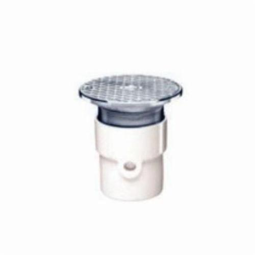 3-Inch Oatey 74123 PVC Adjustable Commercial Cleanout with 6-Inch BR Cover